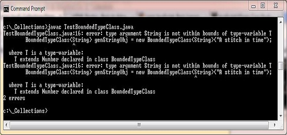 Compile test bounded class