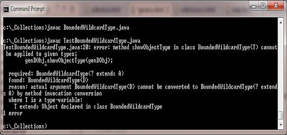 Compile test bounded wilcard class