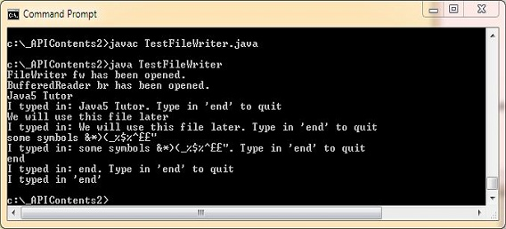 run test filewriter